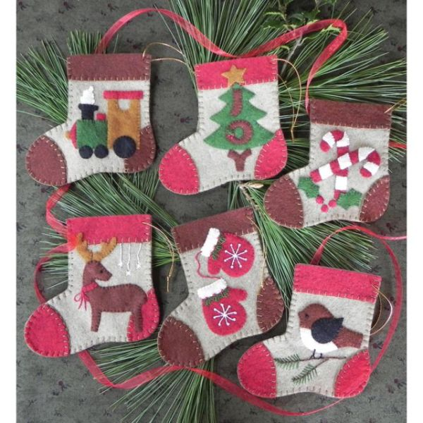 Warm Feet Ornament Kit 6/Pkg