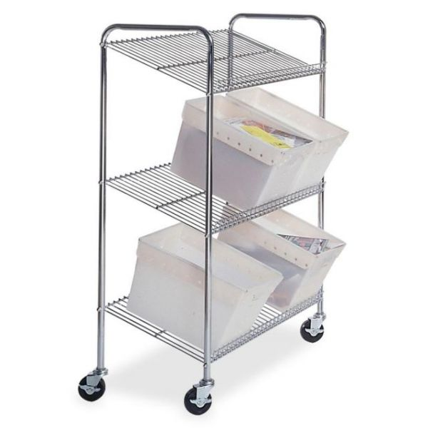 Mayline Mailflow Systems Wire Tote Cart
