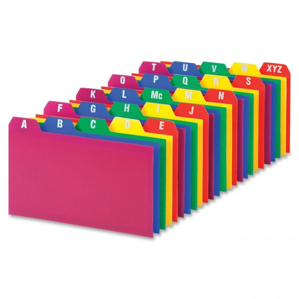Oxford Card Guides, Alpha, 1/5 Tab, Polypropylene, 3 x 5, 25/Set