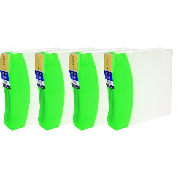 "Storex 1.5"" DuraTech Binder, Green (Case of 4)"