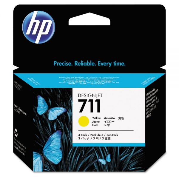HP 711 Yellow Ink Cartridges (CZ136A)