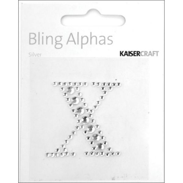 Bling Alphas Self-Adhesive Rhinestone Letter 1.375""