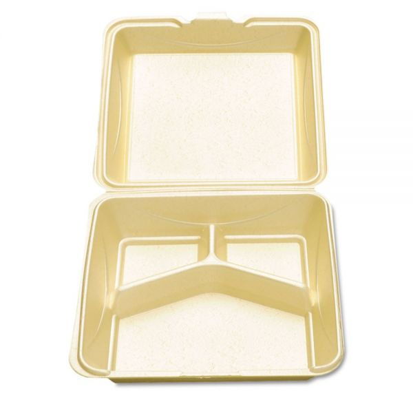 Dispoz-o Enviroware Hinged Foam Clamshell Containers