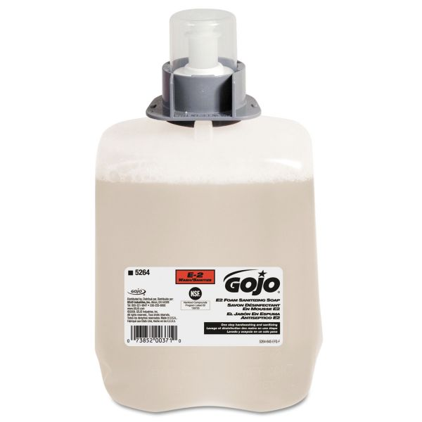 GOJO E2 Foam Sanitizing Hand Soap Refills