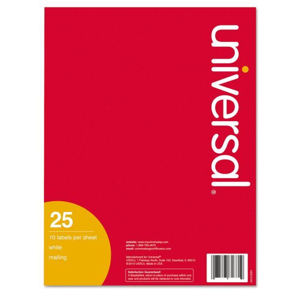 """Universal Permanent 2"""" x 4"""" Shipping Labels"""