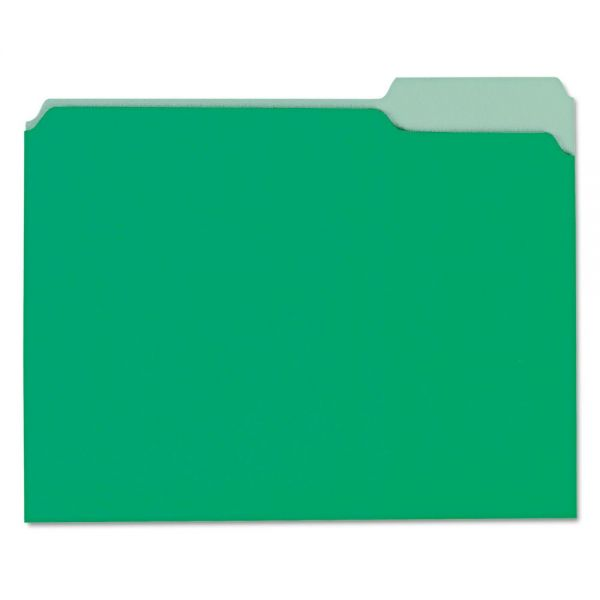 Universal Recycled Green Colored File Folders