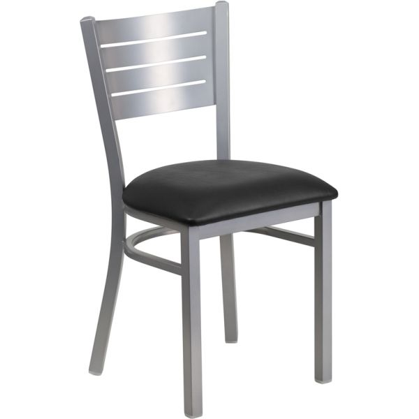 Flash Furniture Slat Back Metal Restaurant Chair [XU-DG-60401-BLKV-GG]