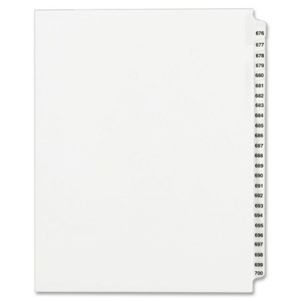 Avery Side Tab Collated Legal Index Dividers