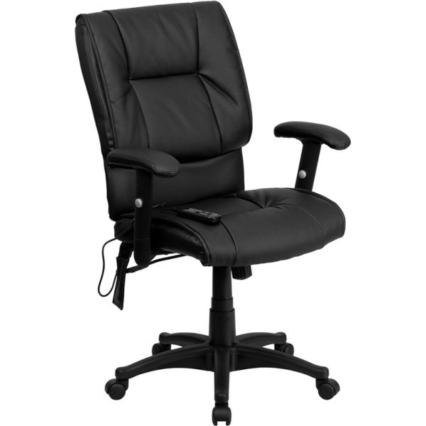 Flash Furniture Mid-Back Massaging Executive Swivel Office Chair