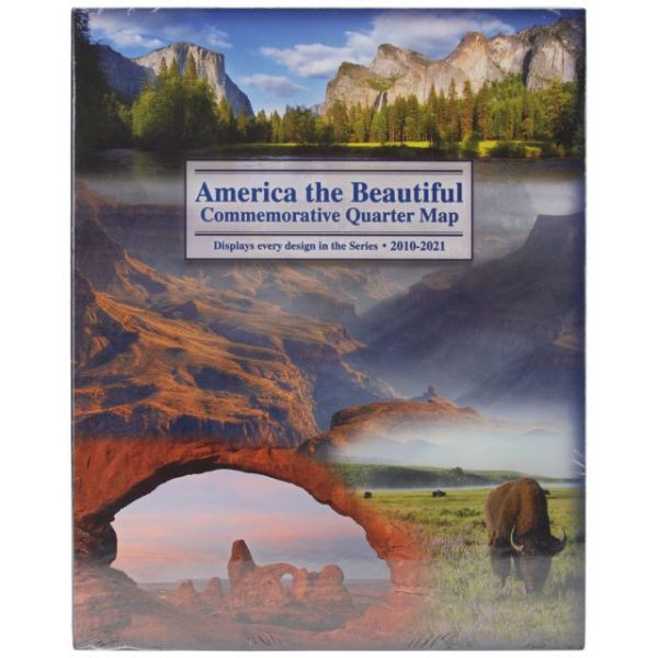 America The Beautiful Commemorative Quarter Map