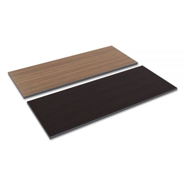 Alera Reversible Laminate Table Top, Rectangular, 59 1/2w x 23 5/8d, Espresso/Walnut