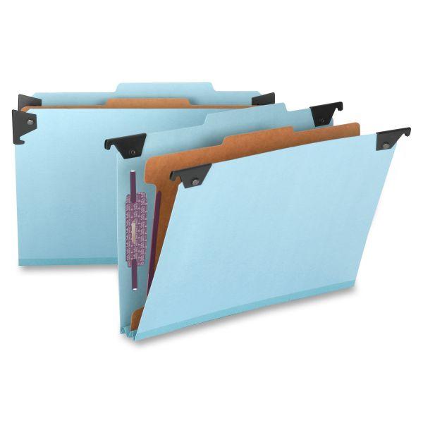 Smead 65155 Blue Hanging Pressboard Classification File Folders