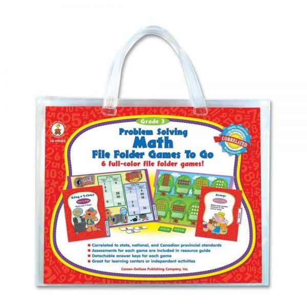 Problem Solving Math File Folder Games to Go File Folder Game
