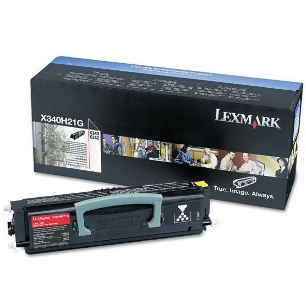Lexmark X340H21G Black High Yield Toner Cartridge