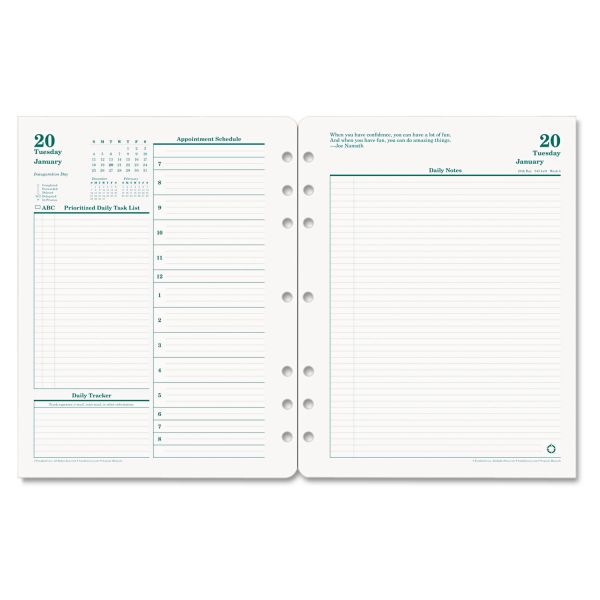 Franklin Covey Monarch Planner Refill