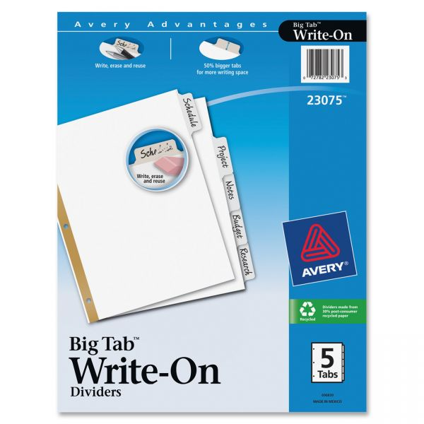 Avery Big Tab Write-On Dividers