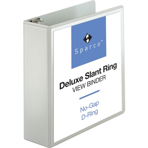 "Sparco Deluxe 3"" 3-Ring View Binder"