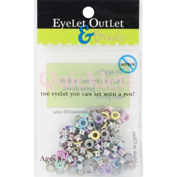 Eyelet Outlet Quicklets Round 84/Pkg