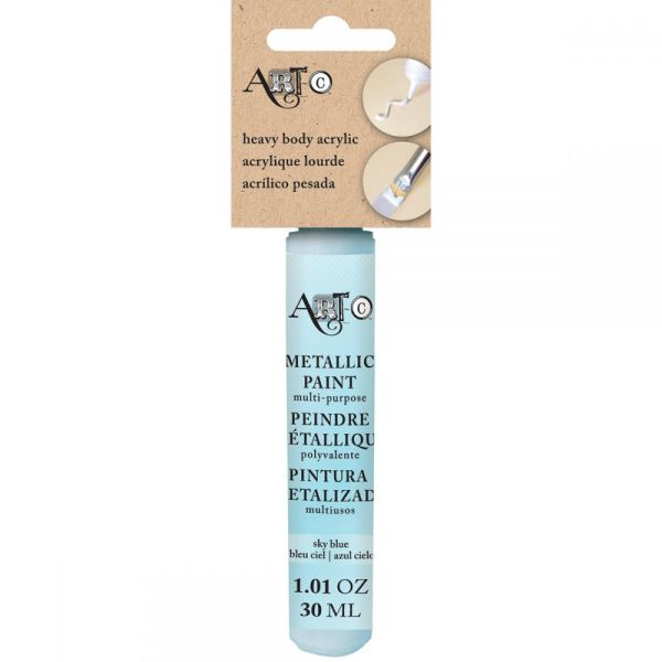 Art-C Heavy Body Metallic Skyblue Acrylic Paint