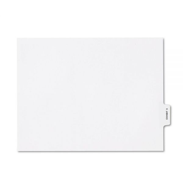 Kleer-Fax 80000 Series Bottom Tab Legal Exhibit Index Dividers