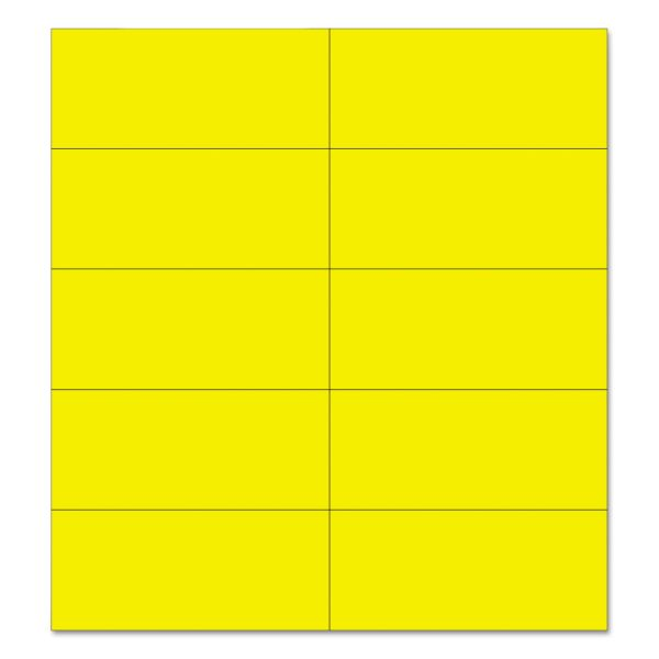 "MasterVision Dry Erase Magnetic Tape Strips, Yellow, 2"" x 7/8"", 25/Pack"