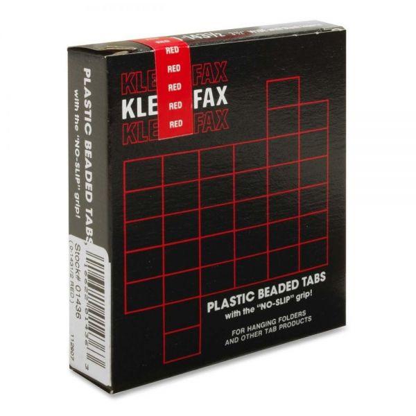 Kleer-Fax Hanging Folder Plastic Beaded Tabs