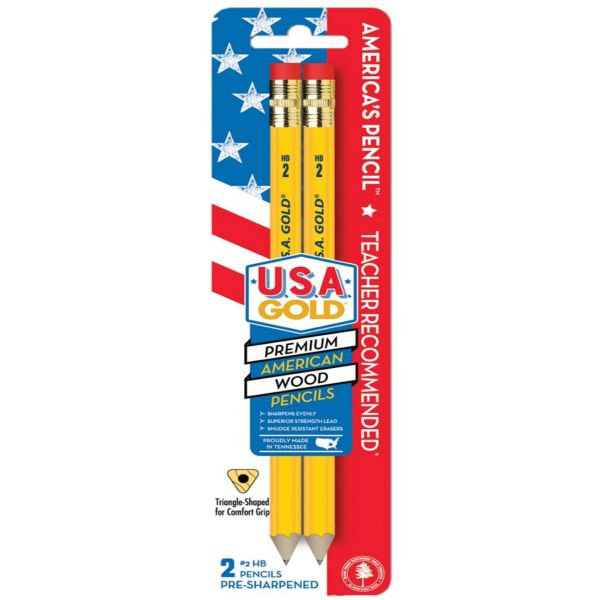 The Write Dudes Jumbo USA Gold Premium No. 2 Pencils