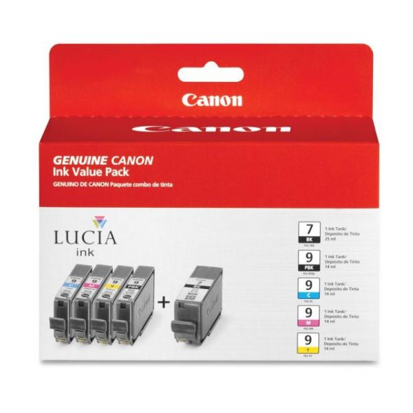 Canon PGI-7 Black/PGI-9 Photo Black/Color Ink Cartridge Combo Pack