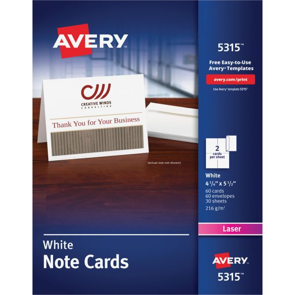 Avery 5315 Note Cards
