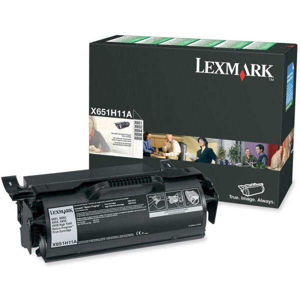 Lexmark X651H11A Black High Yield Return Program Toner Cartridge