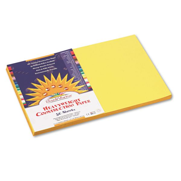 SunWorks Heavyweight Yellow Construction Paper