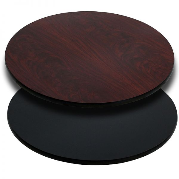 Flash Furniture 42'' Round Table Top with Black or Mahogany Reversible Laminate Top