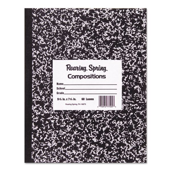 Roaring Spring Marble Cover Composition Book, Wide Rule, 8 1/2 x 7, 48 Pages
