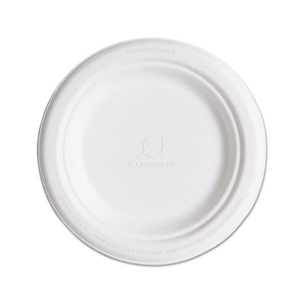 "Eco-Products 6"" Sugarcane Plates"