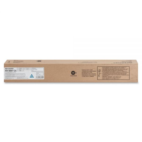 Sharp MX-60NT Original Cyan Toner Cartridge