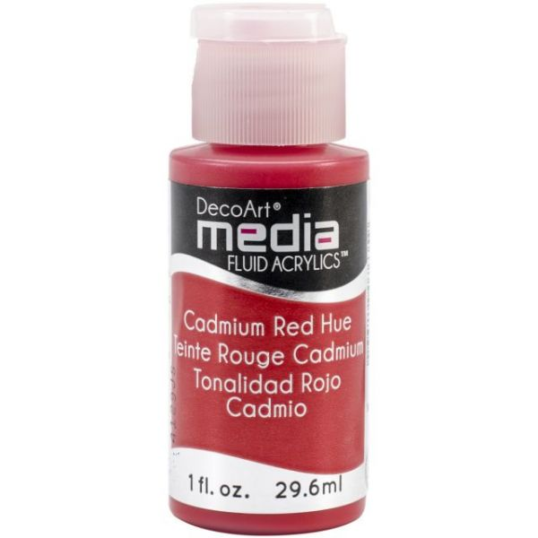Deco Art Media Cadmium Red Fluid Acrylics