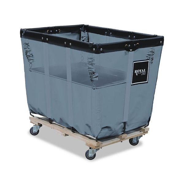 Royal Basket Trucks Spring Lift, 18 X 30, 8 Bushel, Vinyl/Steel, Gray