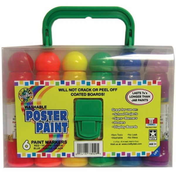 Washable Poster Paint Markers 1.6oz 6/Pkg