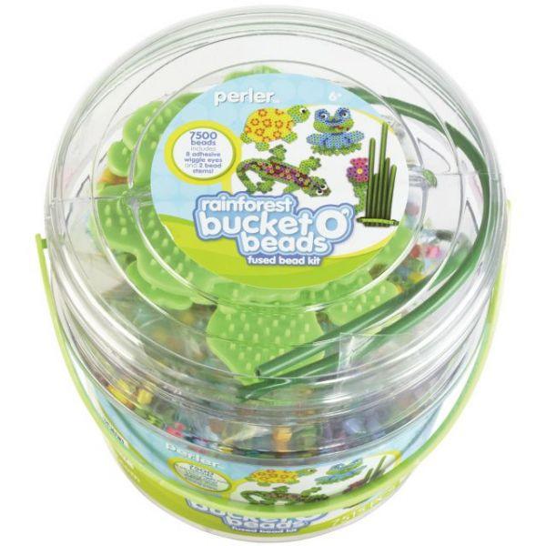 Perler Rainforest  Bucket O' Beads Fun Fusion Bead Kit