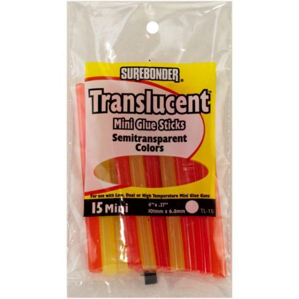 Translucent Mini Glue Sticks
