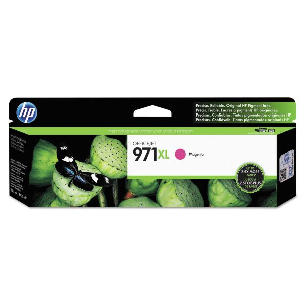 HP 971XL High-Yield Magenta Ink Cartridge (CN627AM)