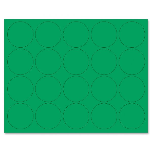 "MasterVision Interchangeable Magnetic Characters, Circles, Green, 3/4"" Dia., 20/Pack"