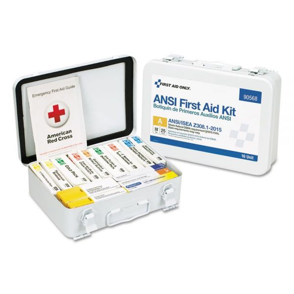 First Aid Only Unitized ANSI Compliant Class A Type III First Aid Kit for 25 People, 84 Pieces
