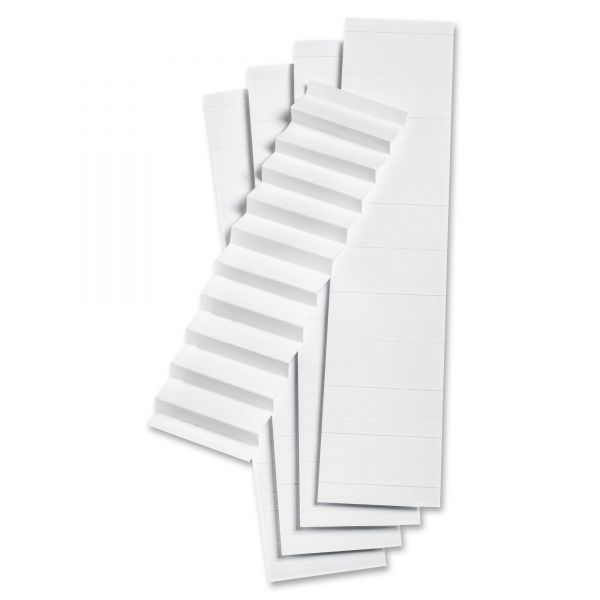"Pendaflex Blank Inserts for 42 Series Hanging File Folders, 1/5 Tab, 2"", White, 100/Pack"