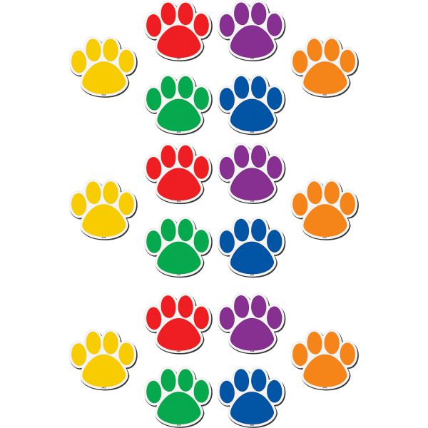 Teacher Created Resources Magnetic Colorful Paw Print Accents