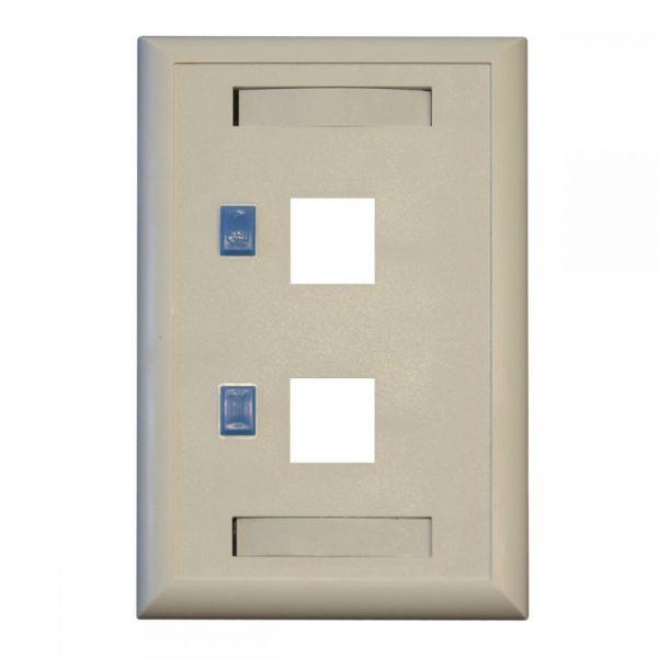 Tripp Lite Dual Outlet RJ45 Universal Keystone Face Plate / Wall Plate