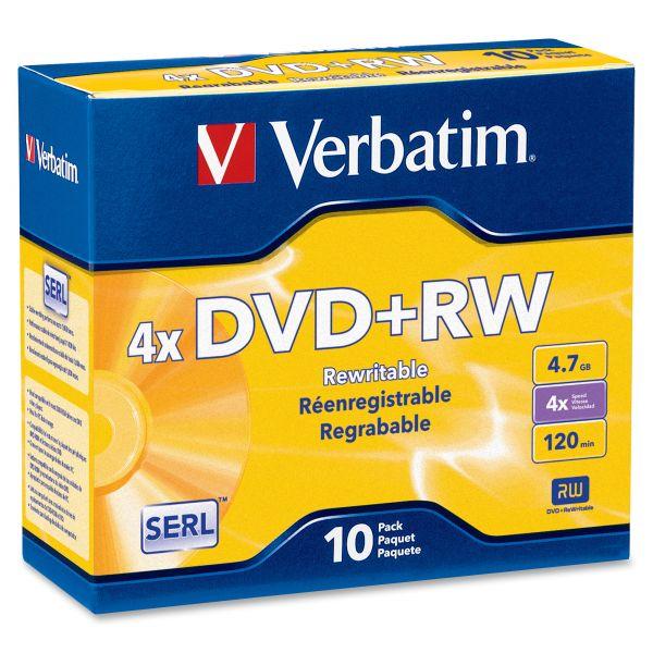 Verbatim DataLifePlus Rewritable DVD Media With Jewel Cases
