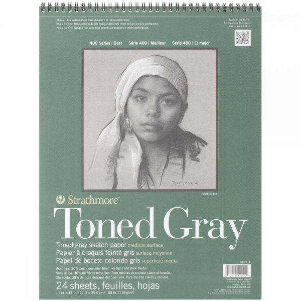 Strathmore Toned Gray Acid Free Sketch Paper Pad