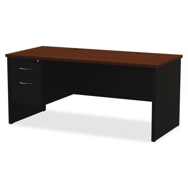 Lorell Commercial Single Pedestal Computer Desk