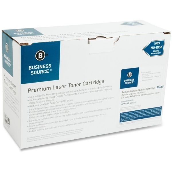 Business Source Remanufactured HP 98A Black Toner Cartridge